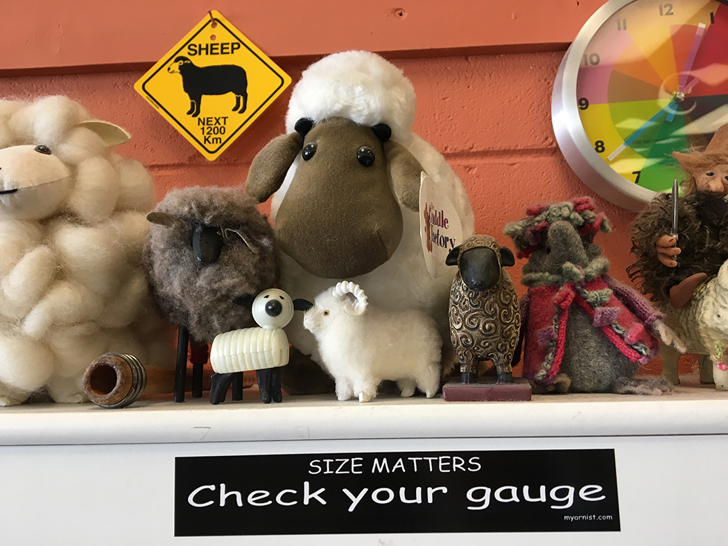 An important reminder seen at  Shuttles, Spindles, and Skeins  in Boulder. Remember that like gauge, sett matters.