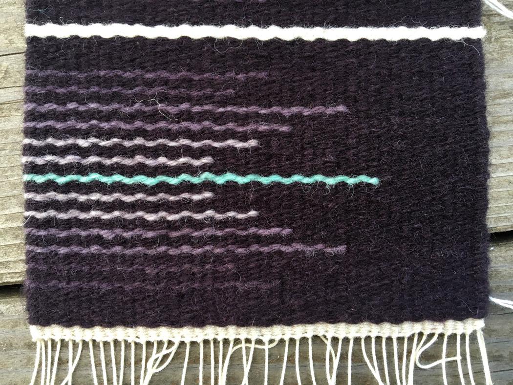 Four strands Harrisville Koehler singles wool