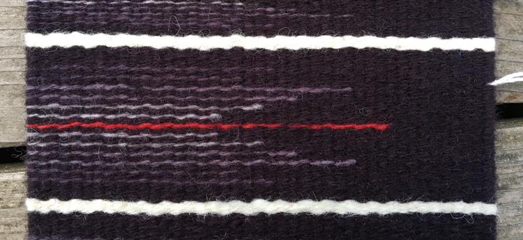 Two strands Harrisville Koehler singles wool