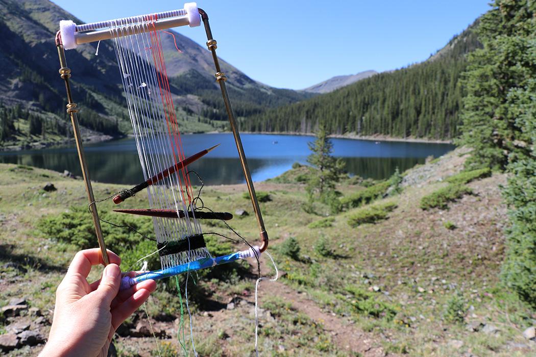 Rebecca Mezoff, four selvedge weaving, 11,000 feet in Colorado