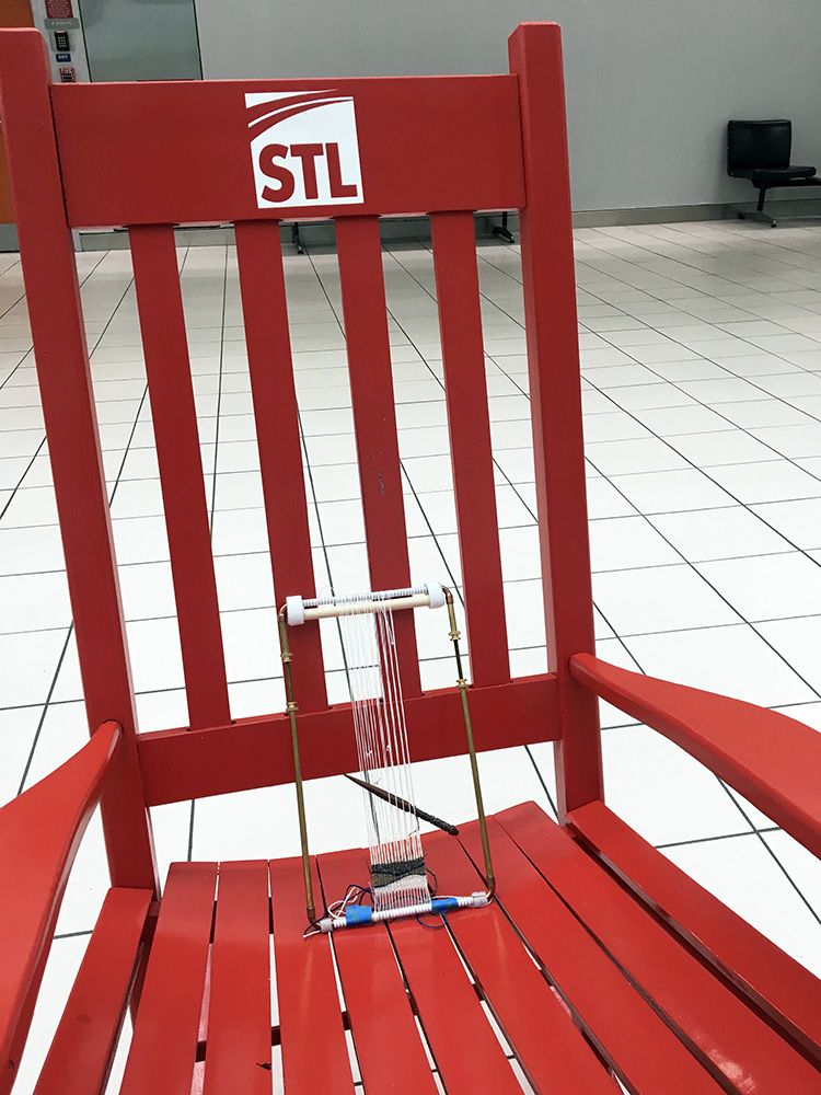 The rocking chairs at St. Louis Lambert are LARGE!