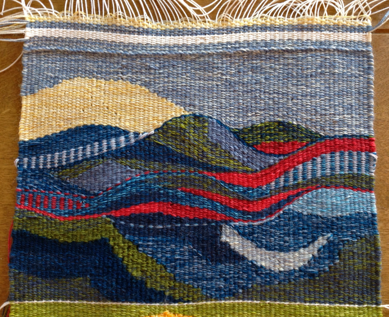 Annette Skyes, tapestry woven in Warp and Weft online course with Rebecca Mezoff