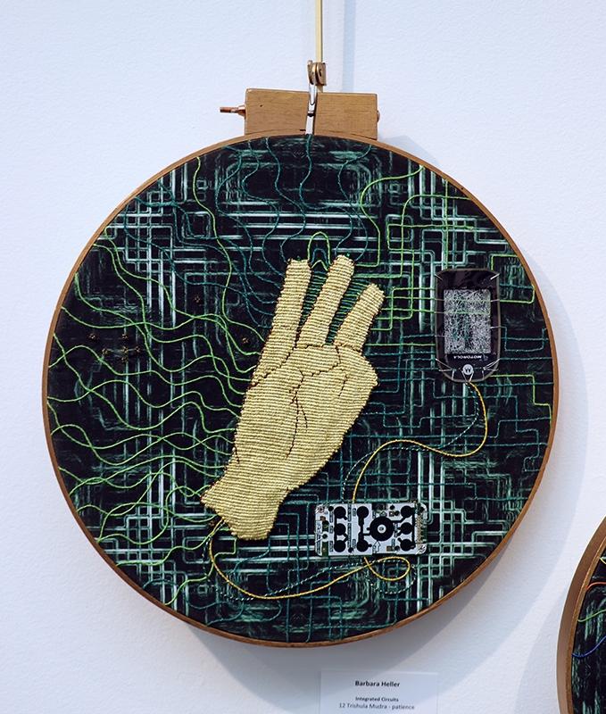 Barbara Heller,  Integrated Circuits, Trishula Mudra - patience,  14 inch diameter