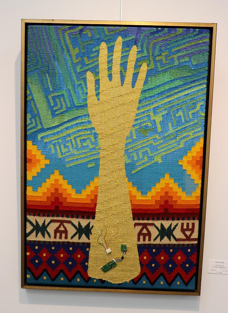 Barbara Heller,  Future Reliquaries, Kilim Algorithm,  37 x 24 inches