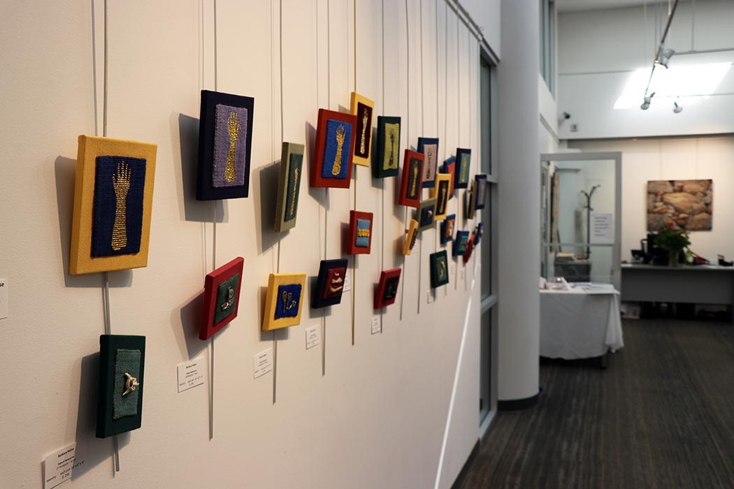 Barbara Heller,  Diptych Reliquaries series,  Jewish Community Center, Vancouver Divine Sparks show, September 2018