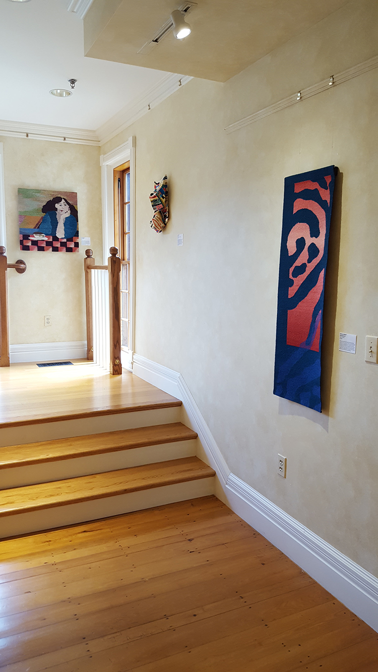 Tapestry to the right is Rebecca Mezoff's Emergence IV.