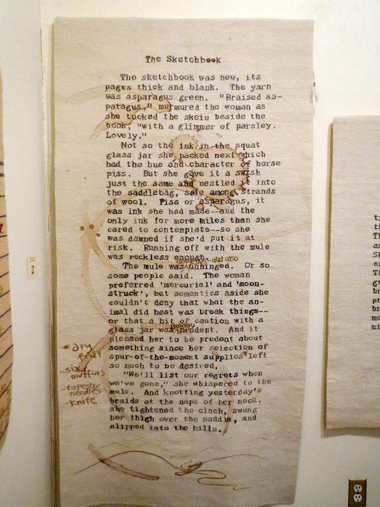 Sarah Swett, Rough Copy 2, The Sketchbook