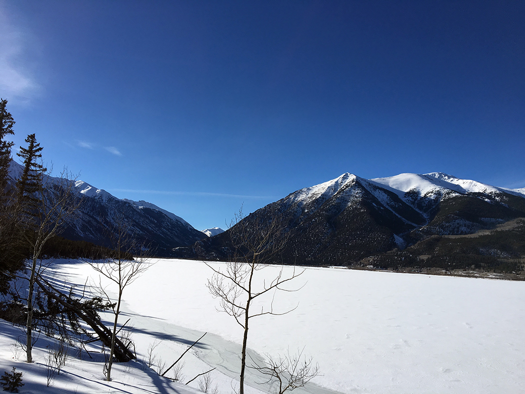 Parry Peak from across Twin Lakes.
