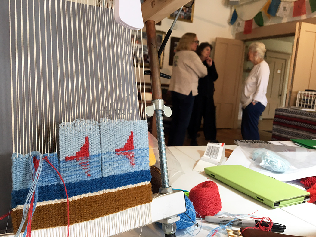 Bonni's weaving at a prior Vermont retreat