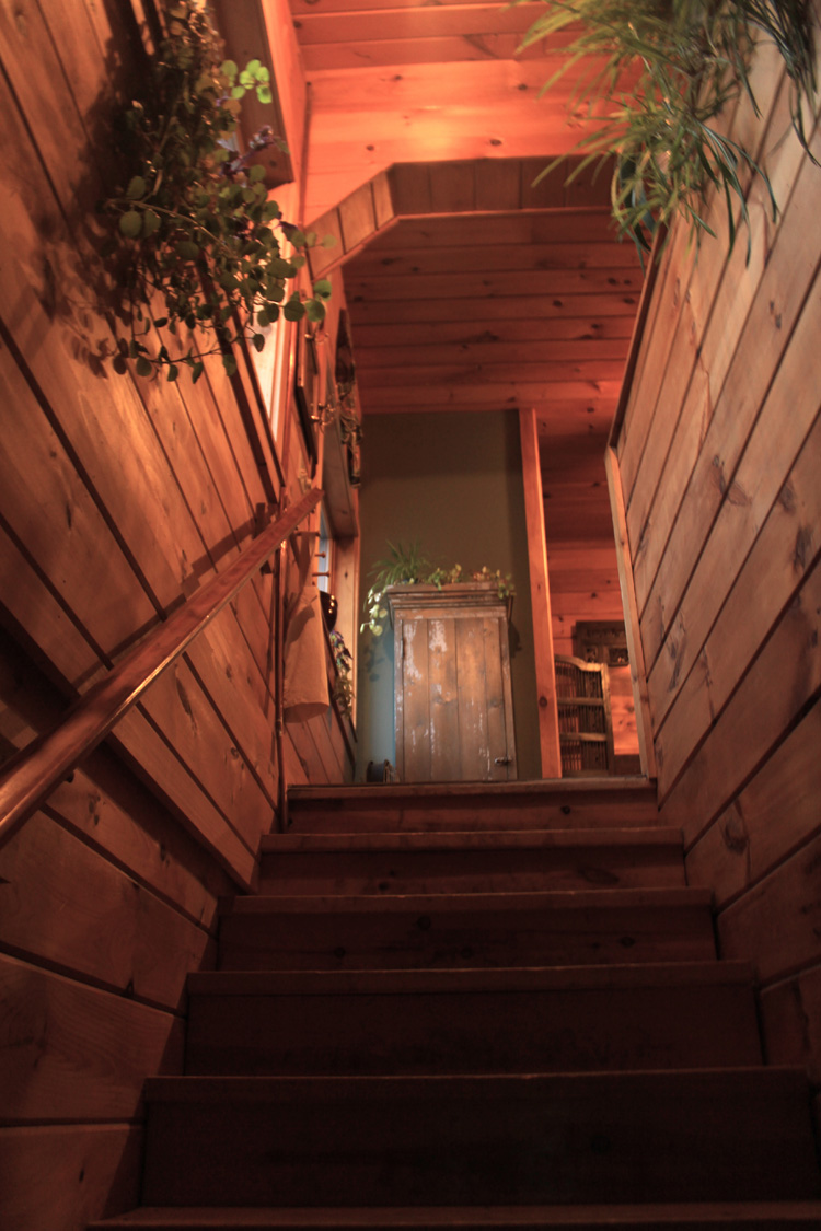 Entrance to the barn apartment