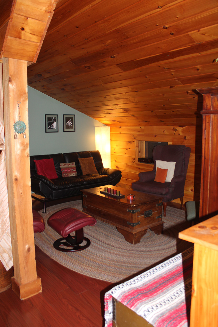 One of the living spaces at the barn apartment