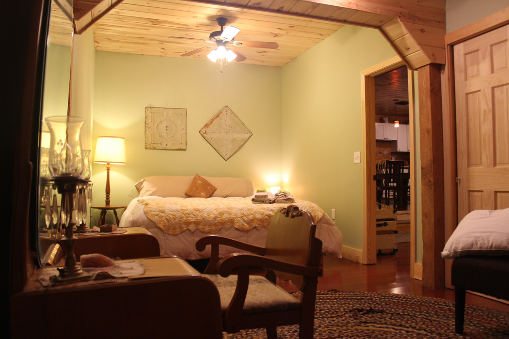 One of the bedrooms at the barn apartment