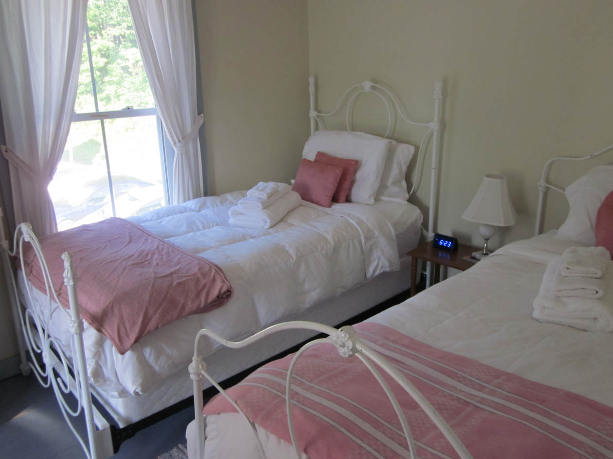 One of the double twin rooms