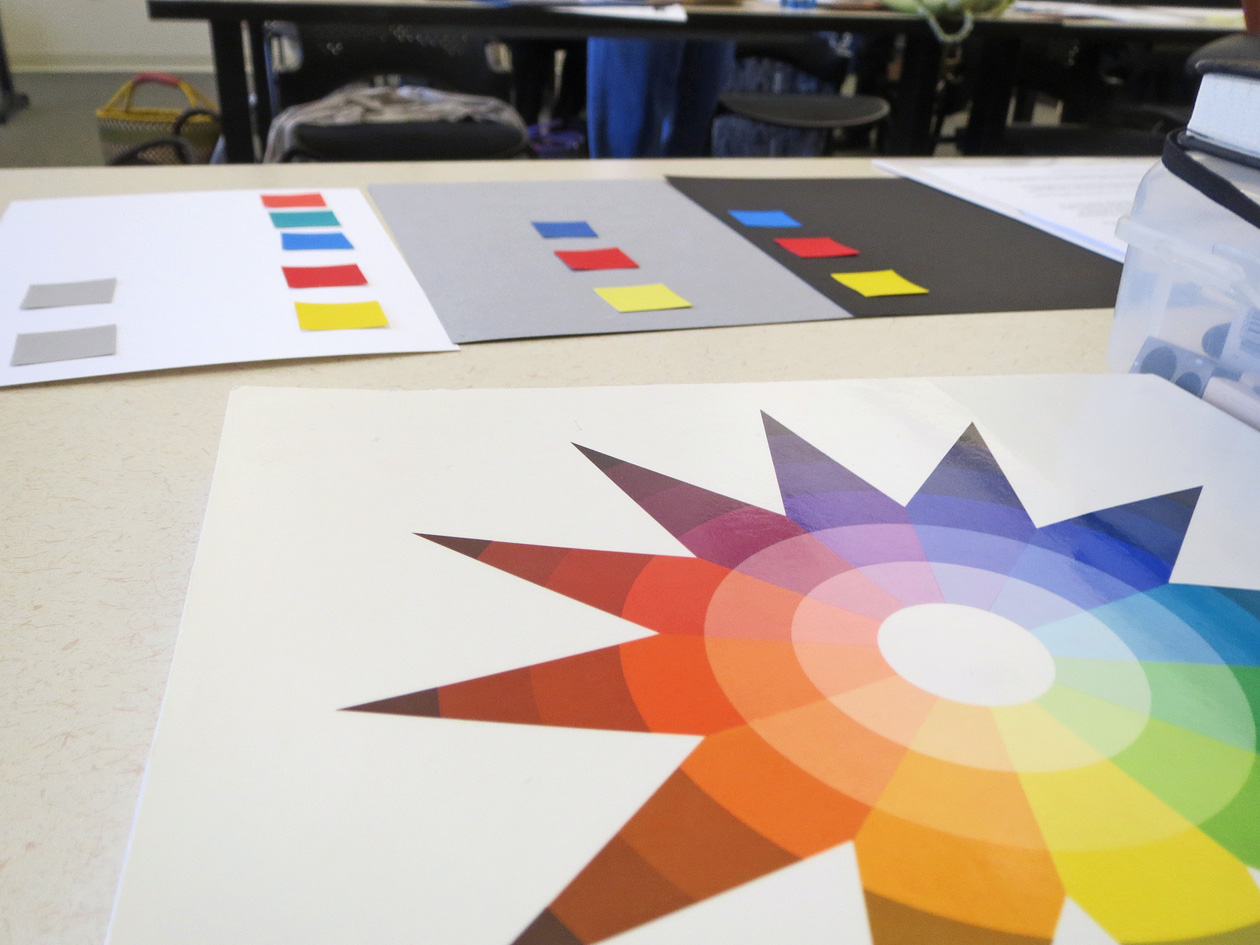 Color wheel with some paper exercises