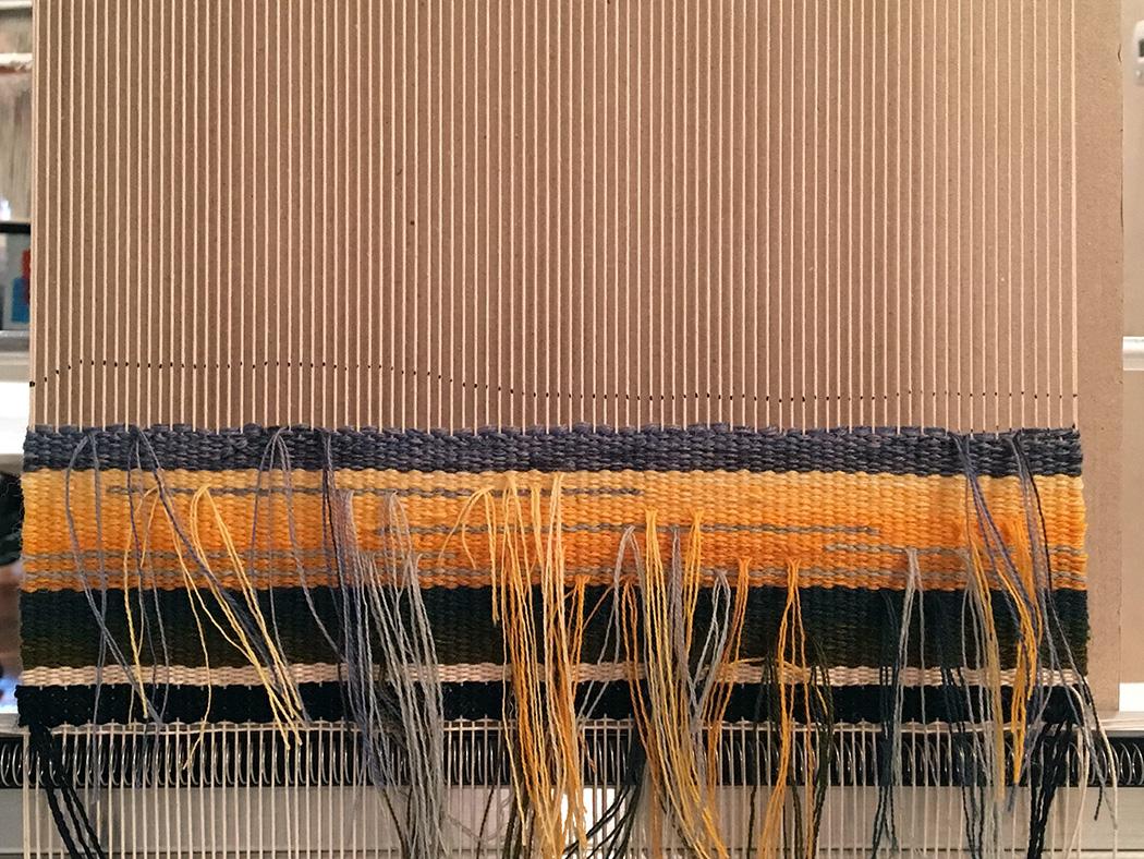 Karen's tapestry in progress