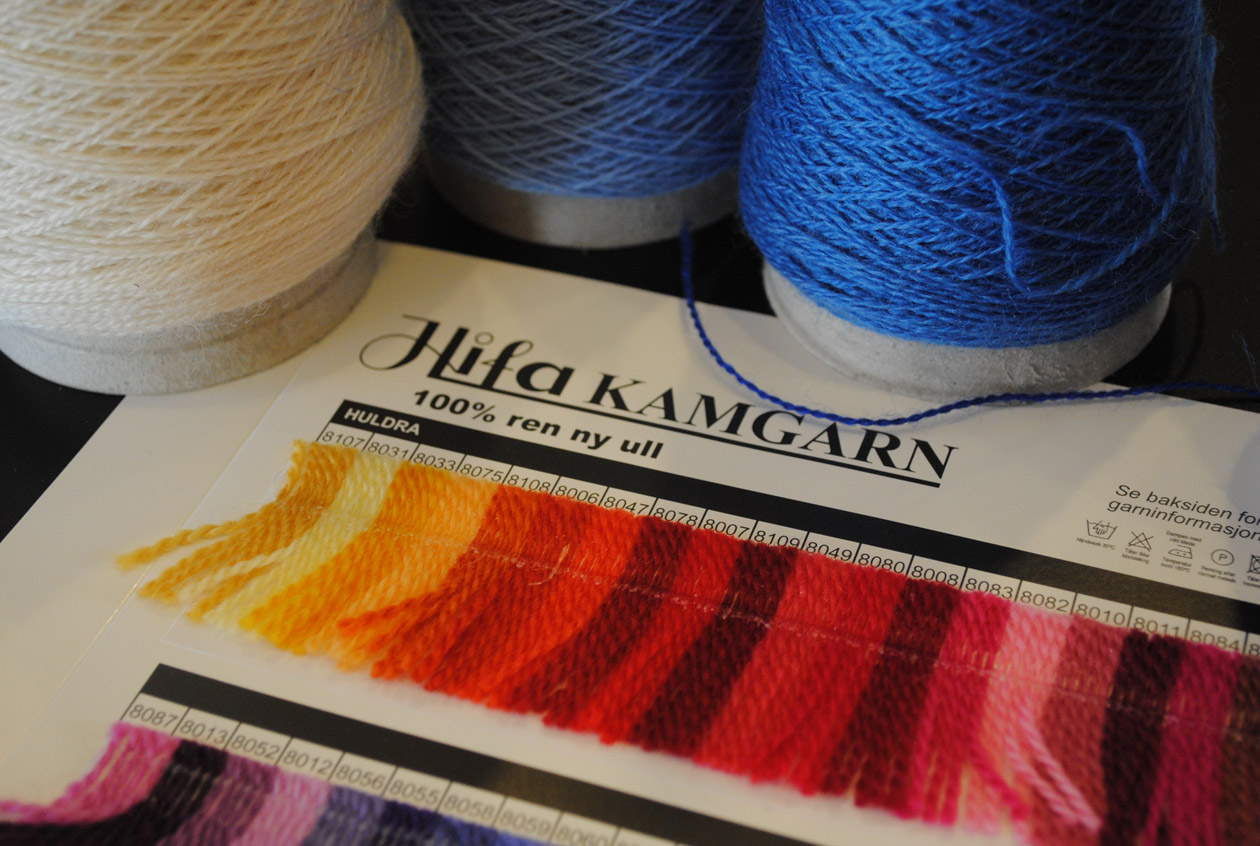 ALV yarn and color card