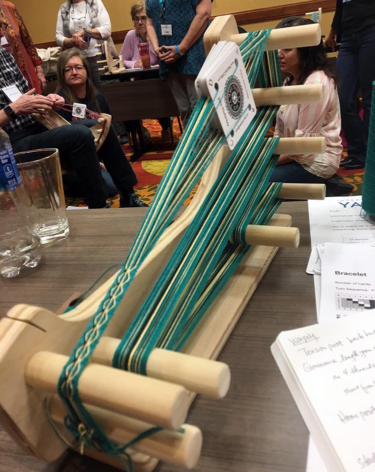 John Mullarkey's tablet weaving loom