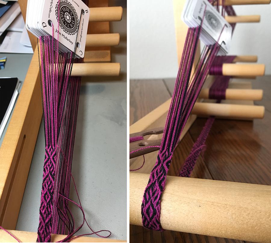 Card weaving, pattern by John Mullarkey