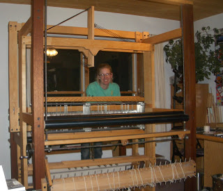 Harrisville rug loom set up for the first time