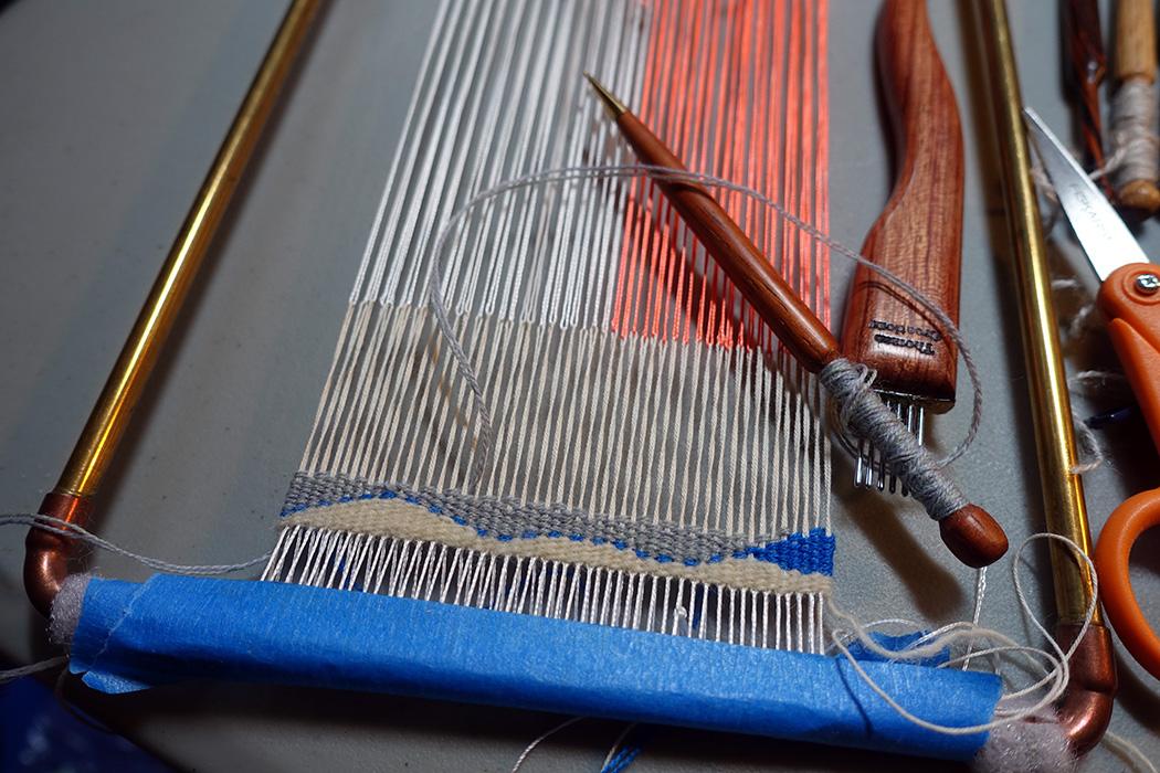 Rebecca Mezoff,  Fringeless  tapestry weaving