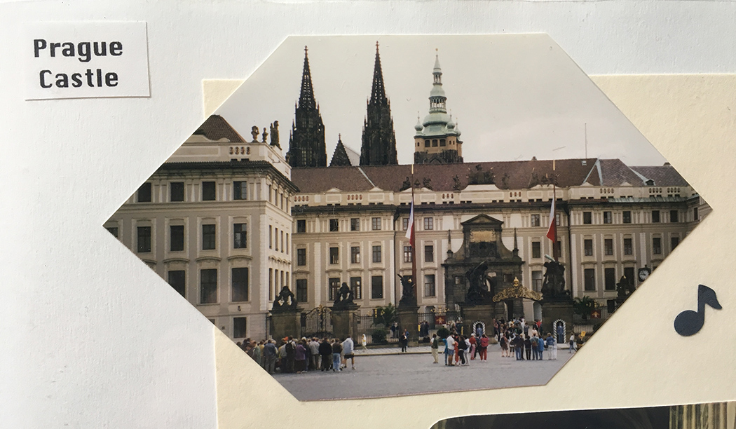 Image of Prague Castle from my 1997 scrapbook. The garden gate is not in this image.