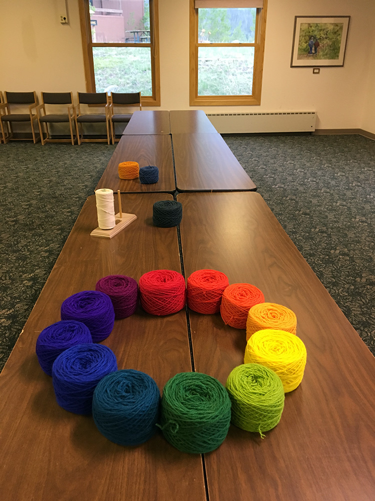 Setting up for the Colorado 2019 Foundations Tapestry Retreat