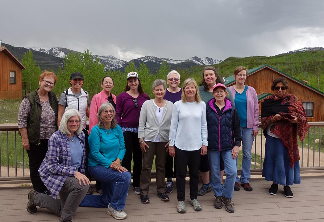 Front row: Linda, Karen, Norma, Anne, Karen. Back row: Lynda, Linda, Kim, Sarah, Wanda, Amy, Rebecca, Kantu.