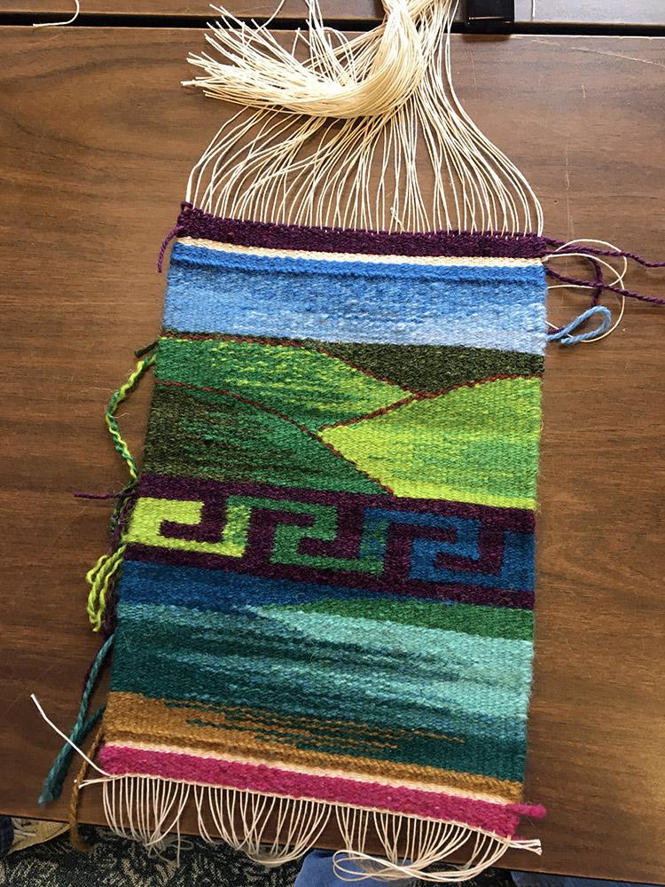 Karen D's project. She mastered the greek key including color gradation!
