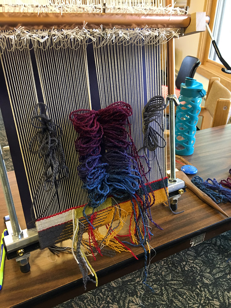 Amy's plan for the next part of her weaving.