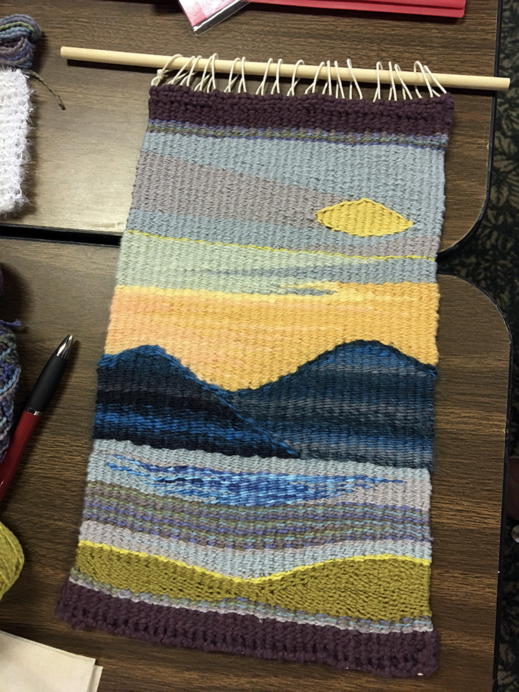 Sarah's landscape weaving.