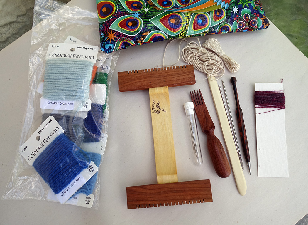 Backpacking weaving kit
