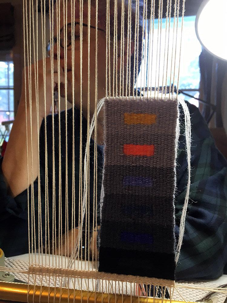 Pamela's weaving