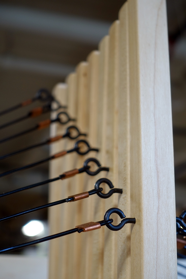 Harrisville rug loom detail