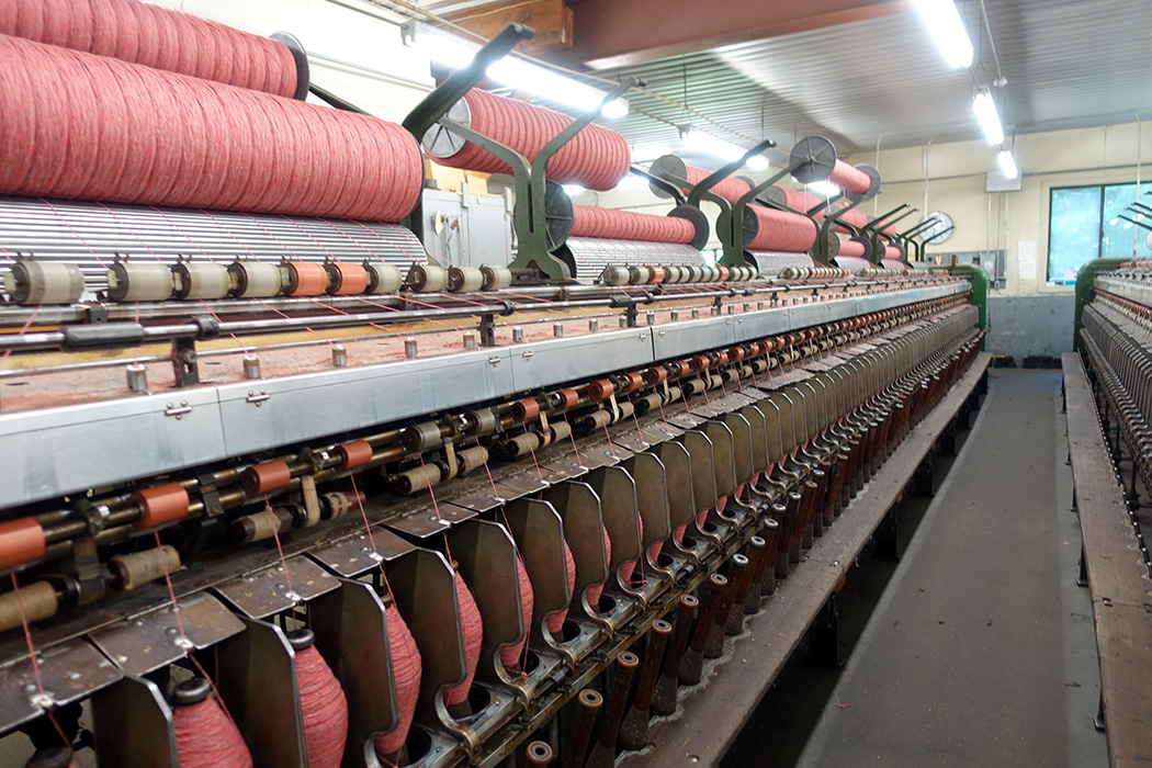 The spinning machines are big!