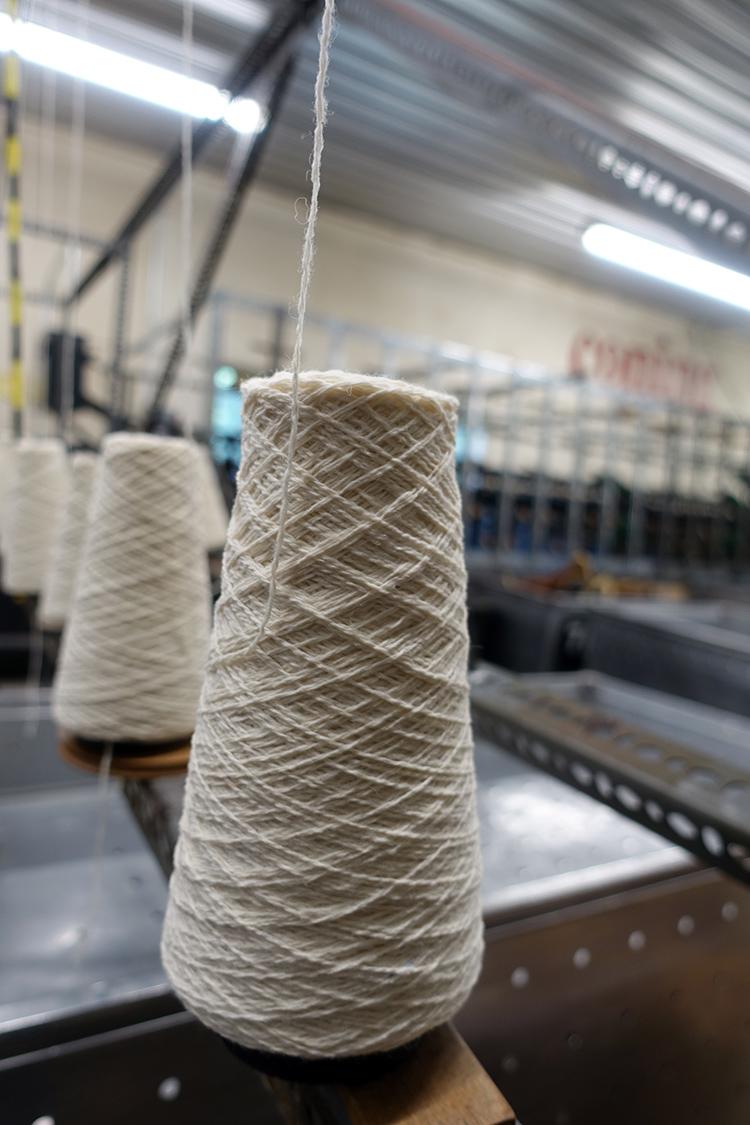 Coned yarn
