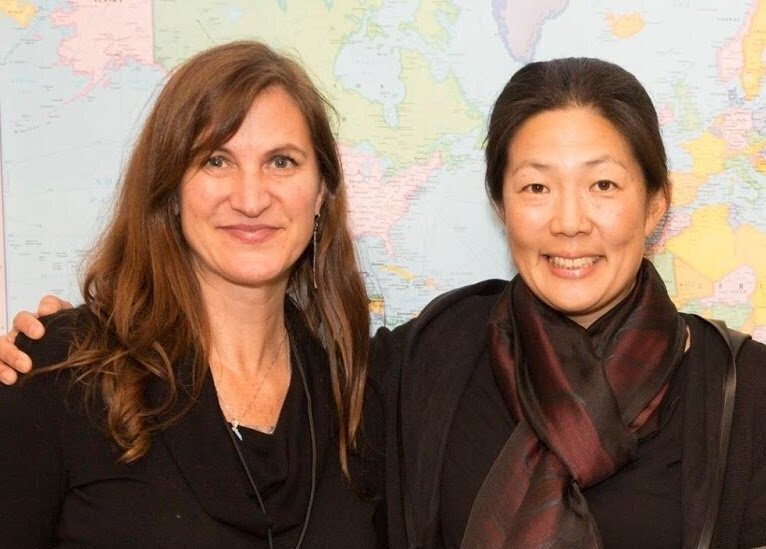 [left to right: Laura Vaudreuil and Jane Pak]
