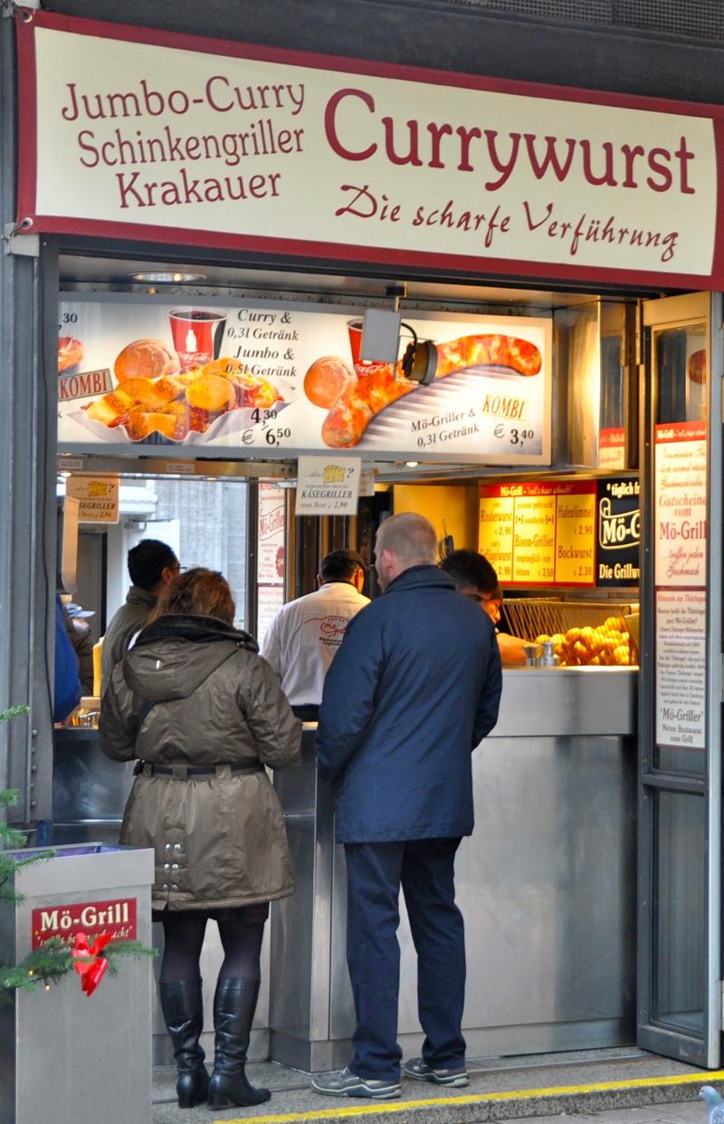 Currywurst stand, Hamburg