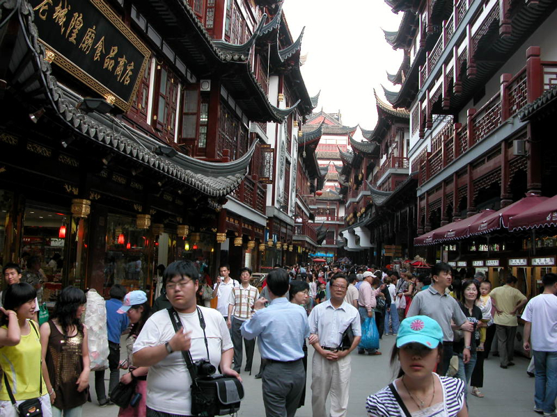 The street leading to the teahouse