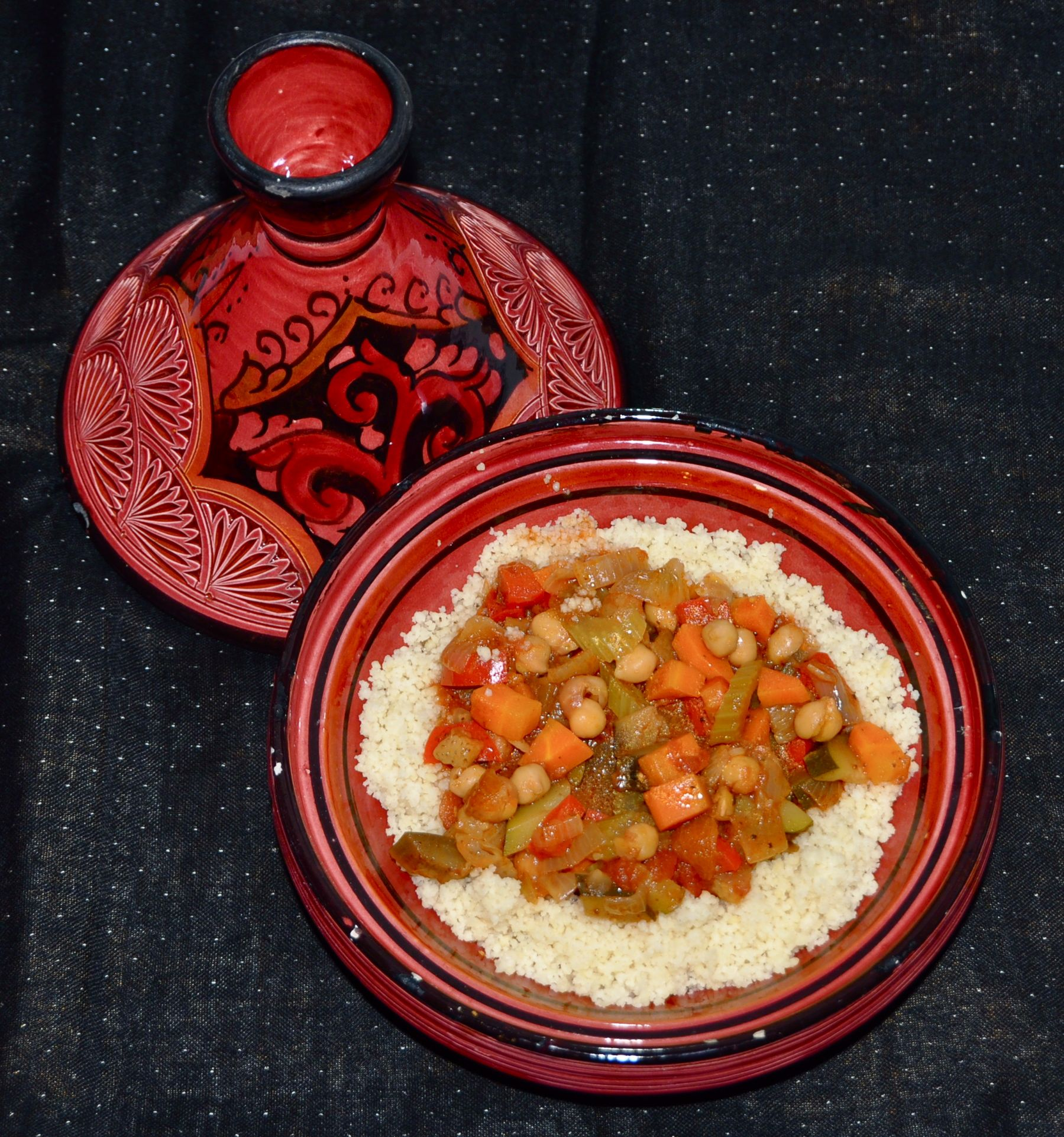 Cous Cous With Seven Vegetable Stew