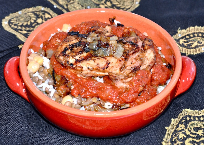 Grilled Chicken And Koshary