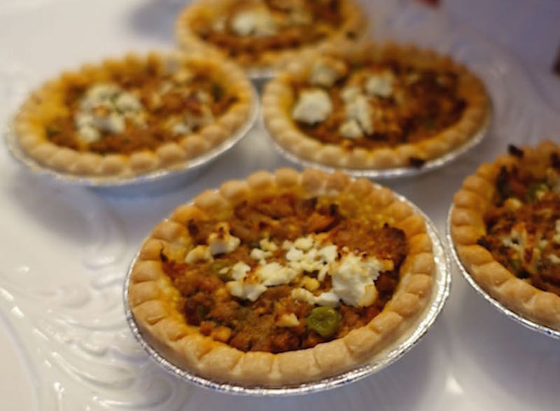 Curried Lamb Tarts With Feta
