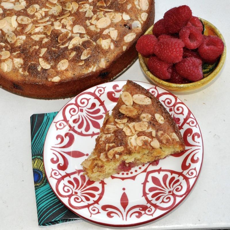 Raspberry Cake With Semolina And Yogurt