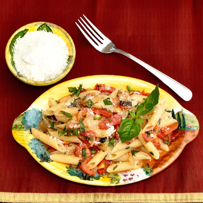 Pasta With Fresh Tomato Vegetable Sauce
