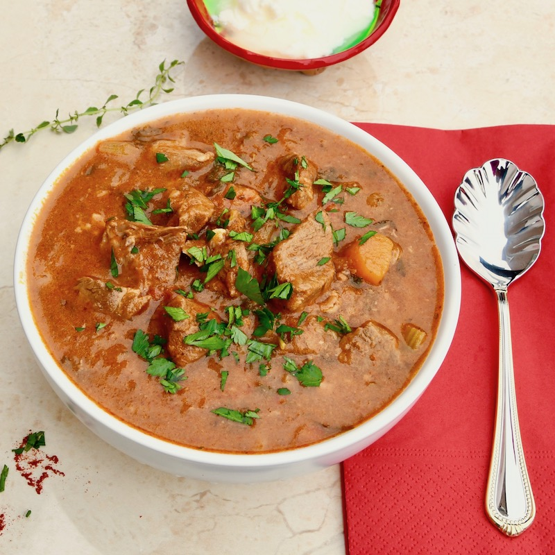 Goulash Soup With Beef And Vegetables