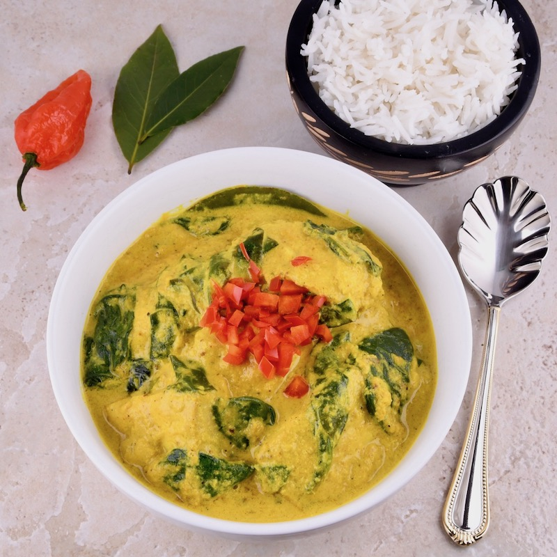 Fish Curry With Turmeric And Coconut Milk