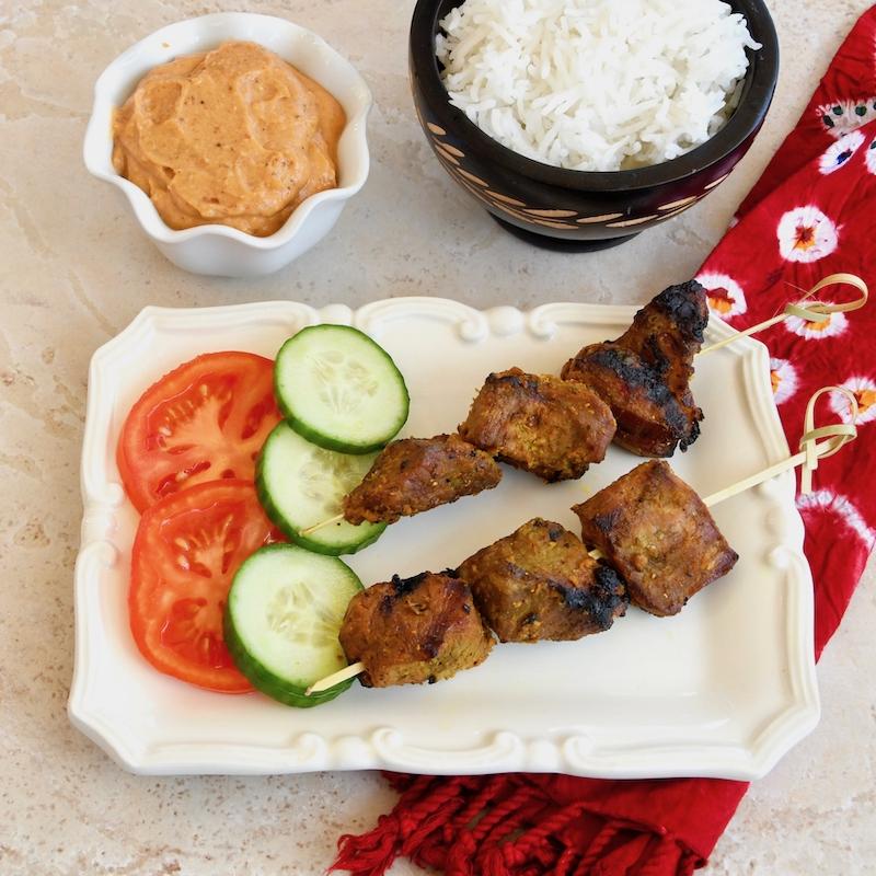 Grilled Lamb Satay Skewers