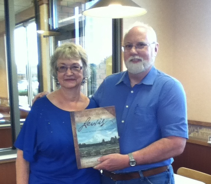 Sandra Crowell, author of A Land Called Lewis, and Kyle Pratt