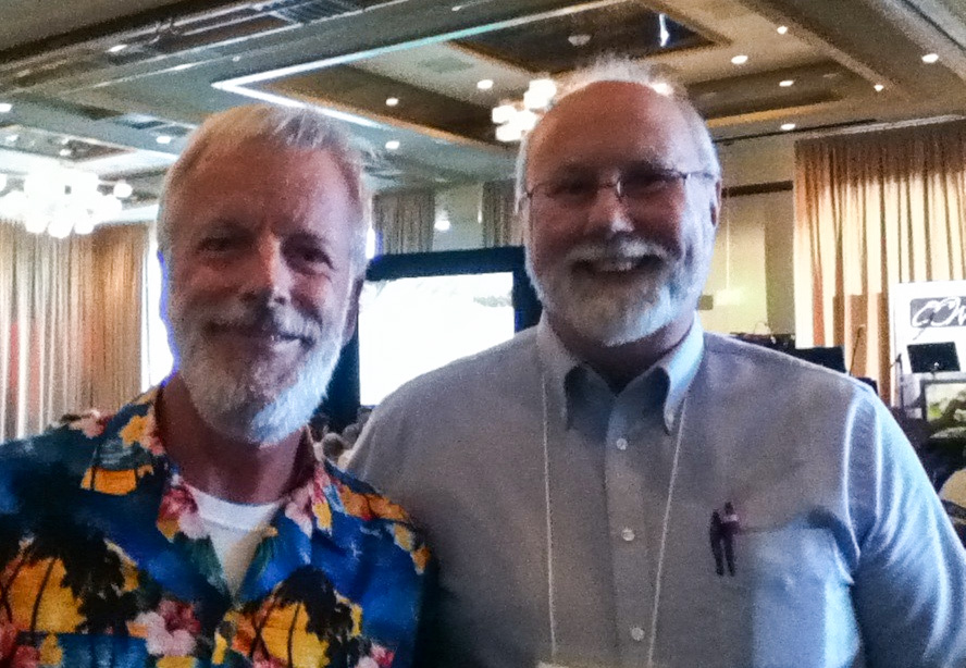 Frank Peretti and Kyle Pratt at the Oregon Christian Writers Summer Conference
