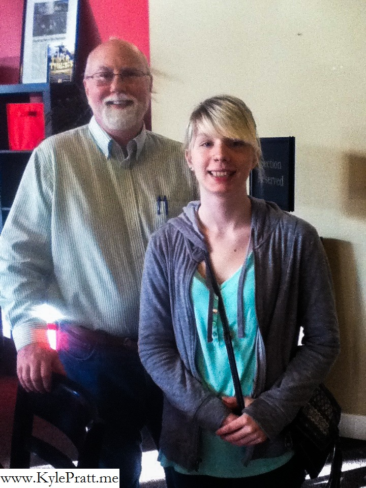 Kyle Pratt and Centralia High School senior Robin McGrew