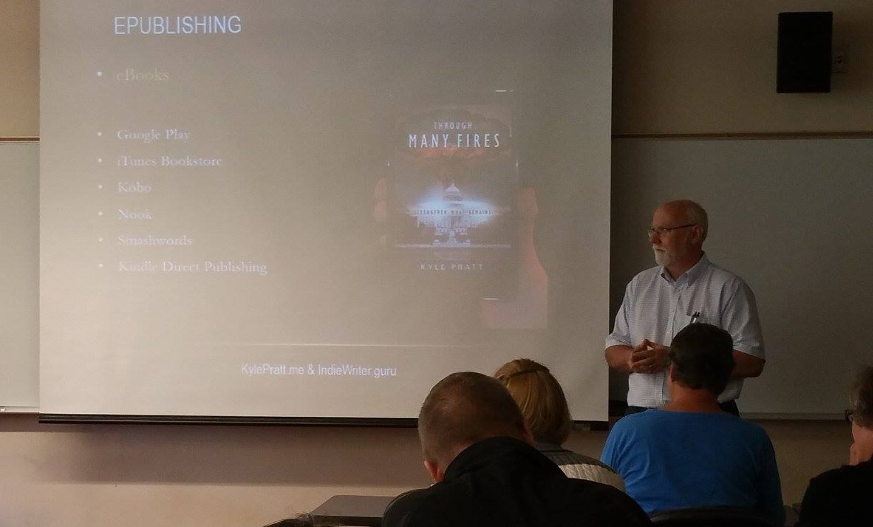 Author Kyle Pratt teaching at the 2016 Southwest Washington Writers conference